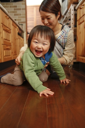Oriental s parent and child  Stock Photo - 12453715