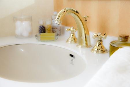 washroom: ba�o Foto de archivo