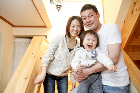 Japanese family Stock Photo - 12453761