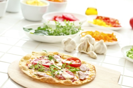 western food: pizza Stock Photo