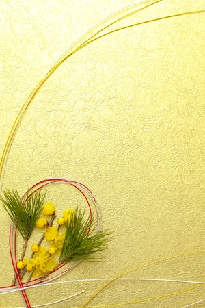 rice paper: Japanese New Year decoration
