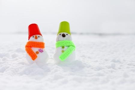 雪だるま、 写真素材