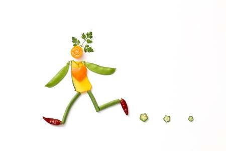 vegetarianism: running