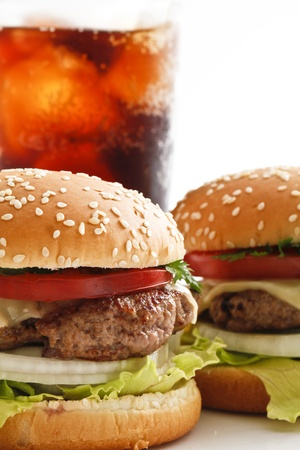 carnes y verduras: hamburguesa