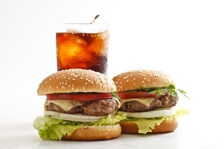 comida chatarra: hamburguesa