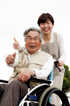 the elderly caregivers: helper Stock Photo