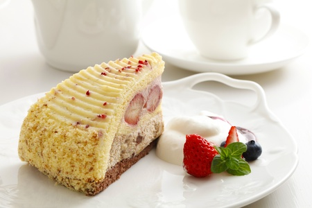 coffee breaks: strawberry cake