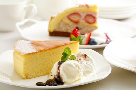 チーズ ケーキ 写真素材