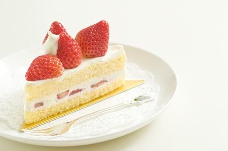 strawberry cake: short cake,