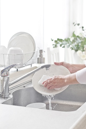 wash dishes: household chores