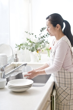washing dishes: household chores