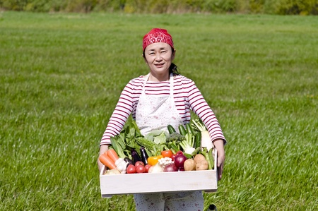 Women with vegetables photo