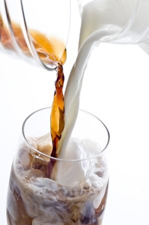 アイスカフェ・オー・レイト 写真素材