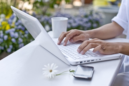 holiday home: home office, Stock Photo