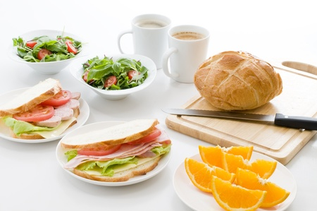 western food:  breakfast Stock Photo