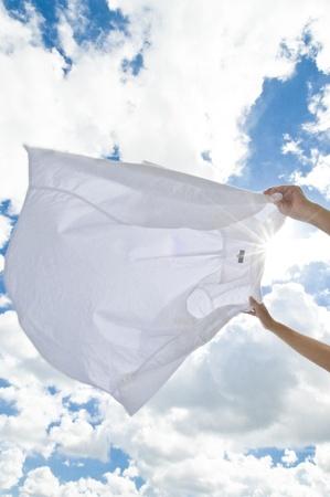 drying laundry Stock Photo - 12628546