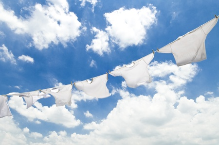drying laundry photo