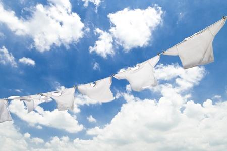 drying laundry Stock Photo - 12628562