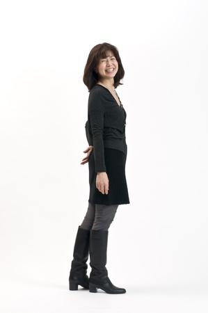 日本の女性の秋のファッション 写真素材