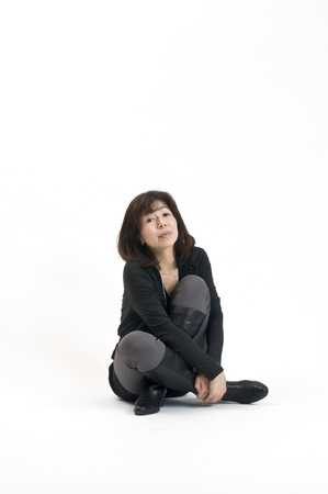 Japanese women autumn fashion photo