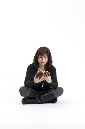 Reading Japanese women photo