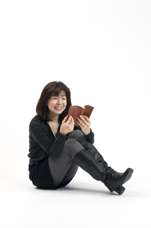 Reading Japanese women photo