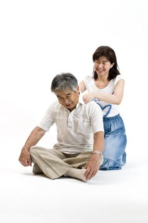 massage enfant: parent-enfant