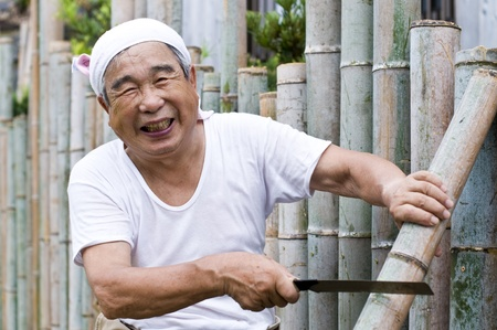 healthy old man of the Orient, energetic Stock Photo - 12693482