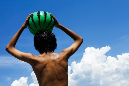 Boy of summer Stock Photo - 12694412