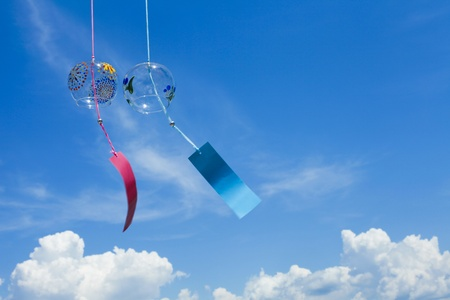 wind chimes: Summer in Japan Stock Photo