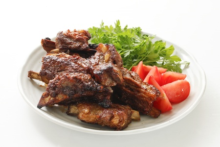 western food: spareribs Stock Photo