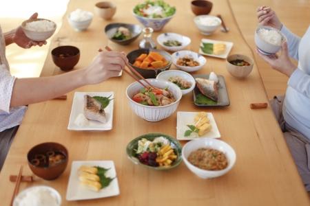 Japanese breakfast Family 写真素材
