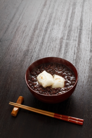 aside: Sweet red-bean soup Stock Photo
