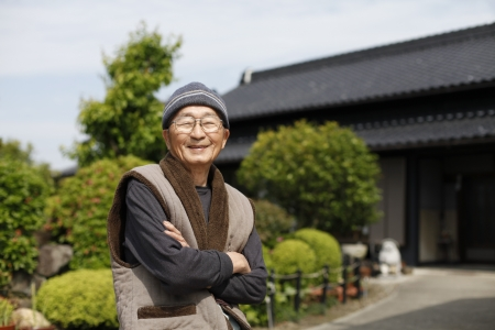 Japanese grandpa Stock Photo - 18068516