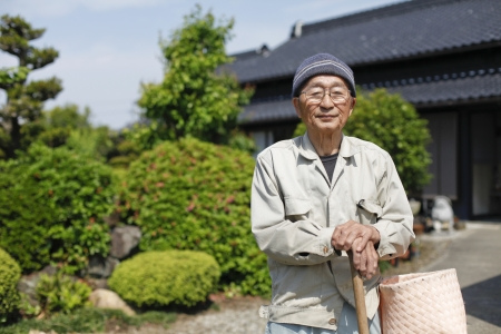 Japanese grandpa Stock Photo - 18068524