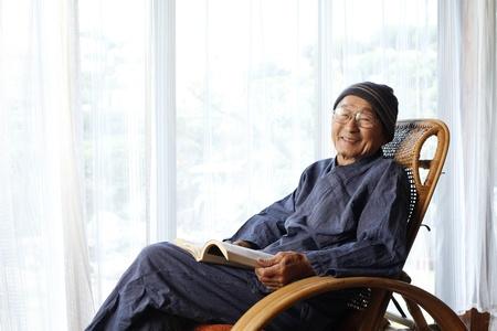 Japanese grandpa Stock Photo