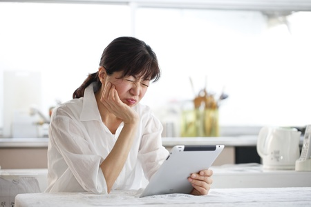 Tablet, women, Asians, Stock Photo - 18066073