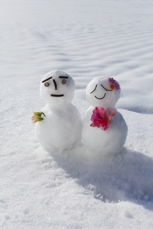 A couple of snowman photo