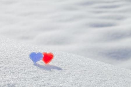 Winter, Heart, pair photo