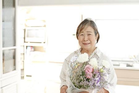 Japanese granny Stock Photo - 18192640