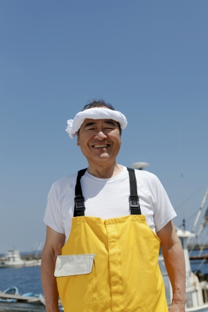 Japanese fisherman Stock Photo - 18255501