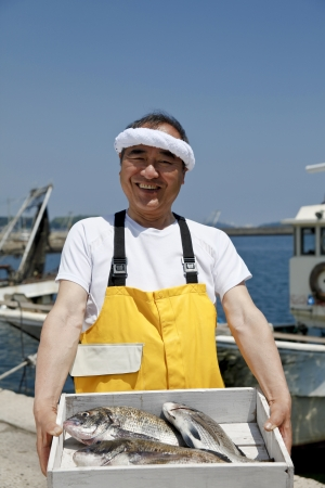 Japanese fisherman Stock Photo - 18255433