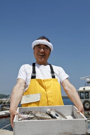 Japanese fisherman Stock Photo - 18255415