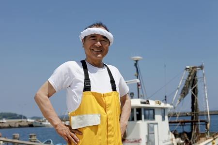 Japanese fisherman Stock Photo - 18255478