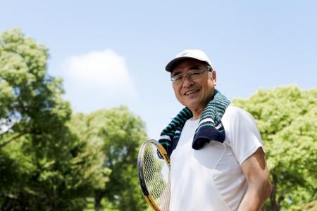 ancianos caminando: Energetic mayor