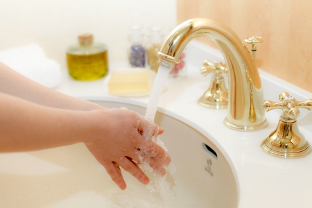 Wash your hands Stock Photo