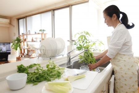 ingredients tap: Wash the vegetables