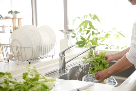 Wash the vegetables