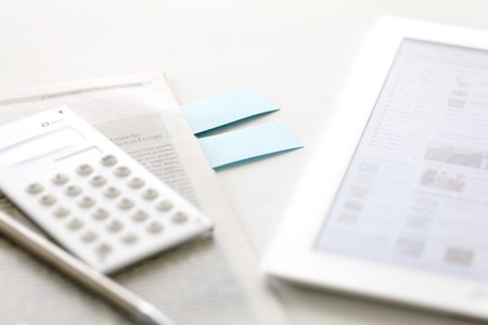 oficina desordenada: Nota pegajosa