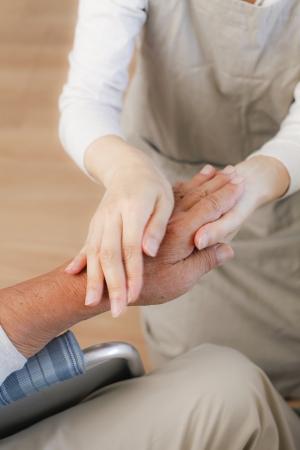 Senior to receive a massage photo
